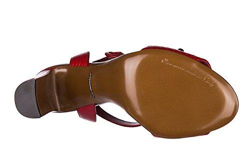 Dolce&Gabbana sandalias de tacón mujer en piel nuevo keira rojo