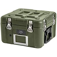 Monoprice Rotomodeled Weatherproof Case - Green (12 X 11 x 9 inches) with Customizable Foam - Pure Outdoor Collection