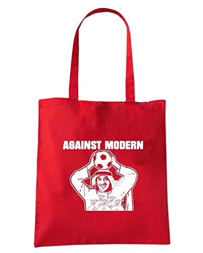 Borsa TUM0146 Speed MODERN Shirt FOOTBALL Rossa Shopper AGAINST PRR5qO