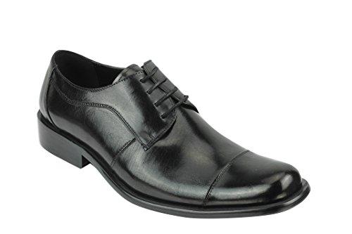 Xposed Zapatos Planos con Cordones Hombre, Color Negro, Talla 43 EU