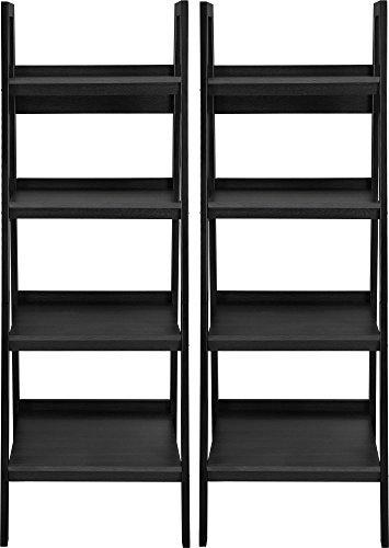 Ameriwood Home Lawrence 4 Shelf Ladder Bookcase Bundle, Black by Ameriwood Home (Image #2)