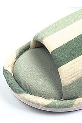 Pour Pantoufles Les Hommes Ouvertes Femmes Toe Green Zinmuwa I8xpp