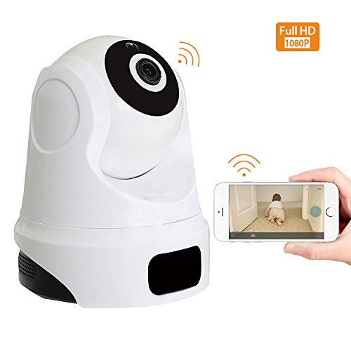 Dome Camera 1080P, Pet Camera with Two-Way Audio, Motion Detection, Pan/Tilt, Smart Wifi Home Security Camera for Baby/Elder/Nanny/Pet/House/Shop Monitoring