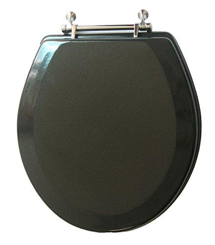 Trimmer Premium Metallic Black Wood Toilet Wood Seat.