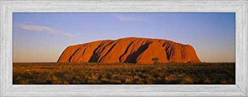 - Easy Art Prints Panoramic Images's 'Rock Formations on a Landscape, Ayers Rock, Uluru-Kata Tjuta National Park, Northern Territory, Australia' Framed Canvas Art - 24
