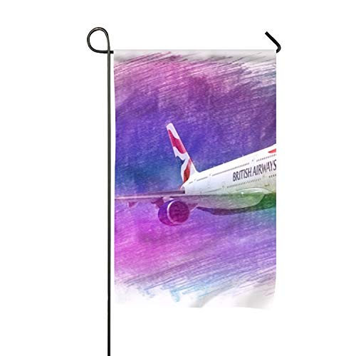 (Lucy Curme British Airway Garden Flag Set for Outdoors Set of Artistically Designed Flags 12