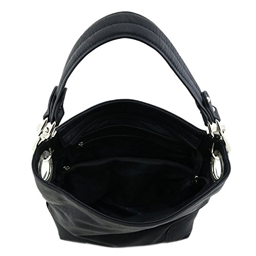 Hook Black Hardware Hobo Bag with Shoulder Snap Small W0PgIqFgT
