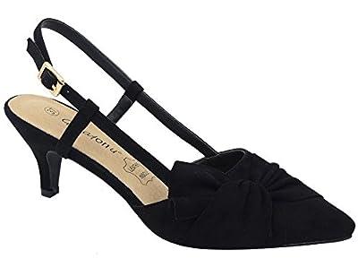 Greatonu Women Shoes Comfortable Kitten Heels Slingback Dress Pumps