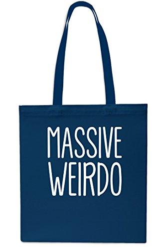 Massive Weirdo Tote Shopping Gym Beach Bag 42cm x38cm, 10 litrest-Small-Black Navy