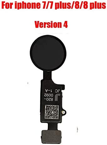 Afeax Compatible with Apple iPhone Home Button Main Key Flex Cable Replacement for iPhone 7//7 Plus and iPhone 8//iPhone 8 Plus Version 4 Black