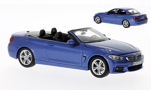 BMW 4er Convertible (F33), metallic-blue, 2013, Model Car, Ready-made, I-iScale ()