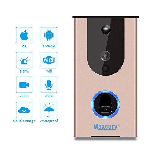 Door Viewer Smart Wi-Fi Video Doorbell in Rose Gold Waterproof IP65, iOS & Android APP, IR Night Vision, Cloud Storage, Support Tamper Alarm [CE FCC RoHS]Certification by MAXCURY (Image #5)