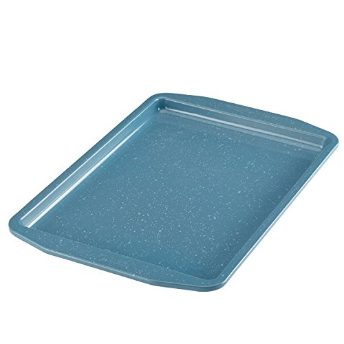 Paula Deen Speckle Nonstick Bakeware 10-Inch x 15-Inch Cookie Pan, Gulf Blue Speckle