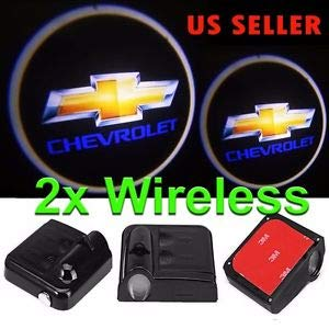 Wireless Car Door LED Projector Light Courtesy Welcome Logo Light Shadow Ghost Laser Lamp for Chevy Chevrolet LED1