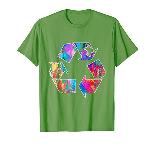 Earth Day Vintage Recycle Reduce Reuse Waste Logo T-Shirt