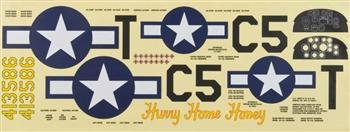 Top Flite Decal Set P-51D 60 Size ARF (Flite Top P-51d)