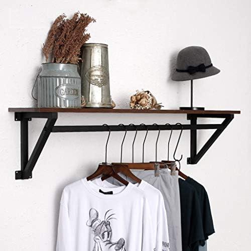 陳列棚は フローティング収納オーガナイザー多機能壁掛け木製衣類ディスプレイスタンド金属フレーム固体と安定した複数の収納方法 SPFOZ (Size : 100×30×30cm)