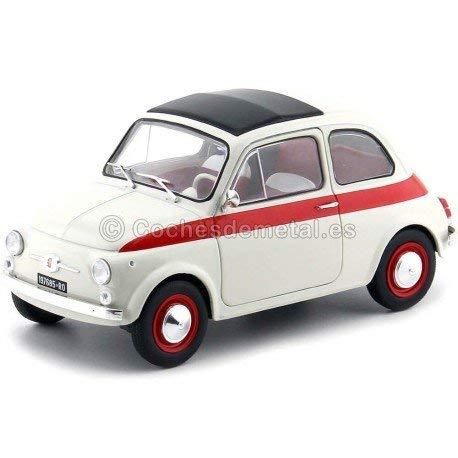 - Solido S1801401 1:18 1960 Fiat 500L Nuova Sport-Cream/Red
