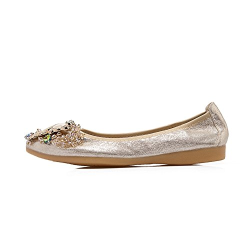 nbsp;Comfort nbsp;Wedding Womens Flats Ballet Shoes Rhinestone Meeshine Gold Foldable qTw1Y4X