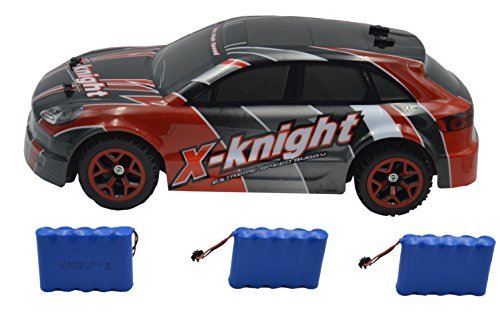 Blomiky 12MPH 1/18 Scale Hobby Remote Control 2.4G High Speed 4WD Racing Toy RC Car Vehicle 4WD Drive Buggy Crawler With Extra 2 Battery GS07B Red [並行輸入品] B0784MGF24