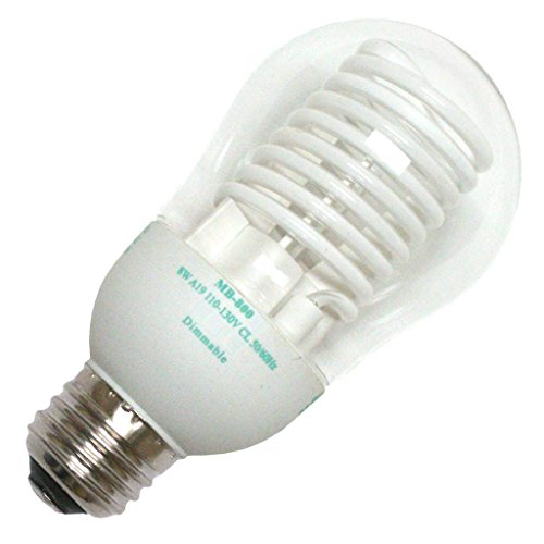 Litetronics 45770 - MB-800DL 8W A19 CL LW Cold Cathode Screw Base Compact Fluorescent Light Bulb
