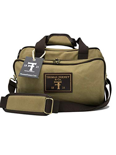 THOMAS FERNEY Shooting Range Bag - Waxed Canvas and Genuine Leather Trim