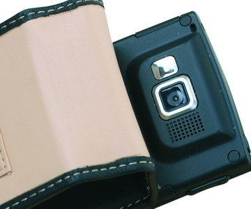 Covertec SX216/03 Tan Leather Case for Samsung SGH-i607 BlackJack
