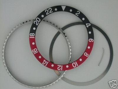 Rotating Bezel and Insert for Rolex GMT 16700 Black/Red