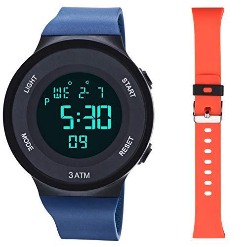 Reloj Digital Deportivo 4 en 1 para Hombre, Resistente al Agua hasta 30 m,