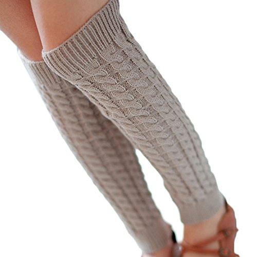 Calcetines, toraway Mujer Calentadores de Pierna de Punto de Ganchillo calcetines largos: Amazon.es: Ropa y accesorios