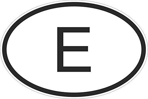 Pegatina bandera-oval código de país coche España español e moto ...