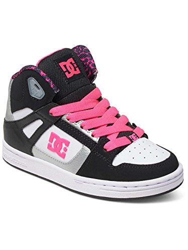 DC Shoes Rebound Se, Zapatillas Altas para Niñas Noir - Black/White/Pink