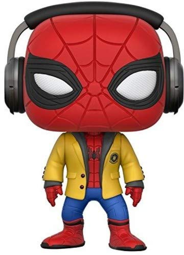 Marvel- Figura de Vinilo Spider-Man with Headphones (Funko 21660)