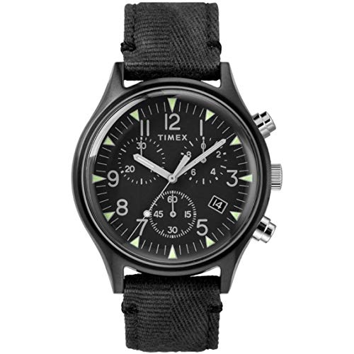 Timex MK1 Steel Chronograph 42 mm Black Dial Watch TW2R68700