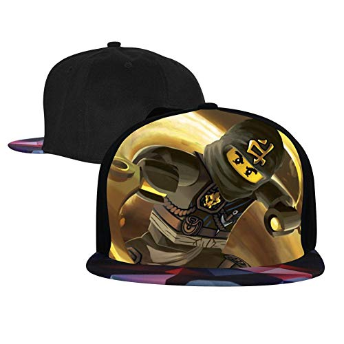 Unisex C0le_Ninja_G0 Baseball Cap Hip Hop Snapback Adjustable Flat Bill Hat for Men Women Red -