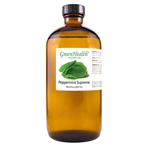 GreenHealth Peppermint (Mentha Piperita) Oil - 100% Pure Essential Oil 16 fl oz (473 ml) Glass Bottle
