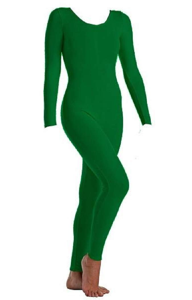 Body Wrappers Women's Long Sleeve Nylon Unitard (MT217)-KELLY L by Body Wrappers