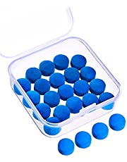 Gejoy 20 Piezas de Puntas de Taco de Billar 10 mm Punteras de Reemplazo con Caja de Almacenaje para Tacos de Billar y Snooker, Azul