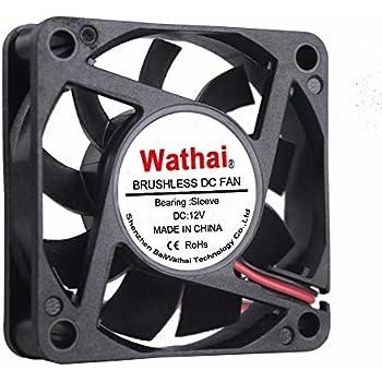 Wathai DC Exhaust Cooler Fan 60mm x 60mm x 15mm 12V 2Pin Brushless Cooling Fan