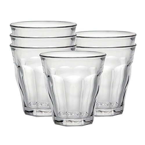 Duralex Made In France Picardie Clear Tumbler, Set of 6, 5-3/4-Ounce