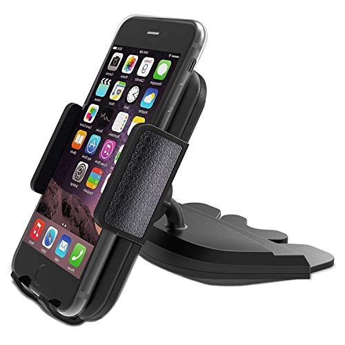CD Slot Car Phone Mount Holder - Universal CD Slot Phone Holder for Car Compatible iPhone X 8 Plus 7 Plus 6s 6 Plus 5S Samsung Galaxy S5 S6 S7 S8 S9 S9+ Google Huawei HTC etc - Black by YipinNuo