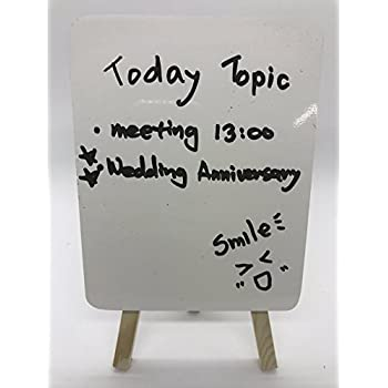 Amazon Com Table Top Two Sided Easel Magnetic