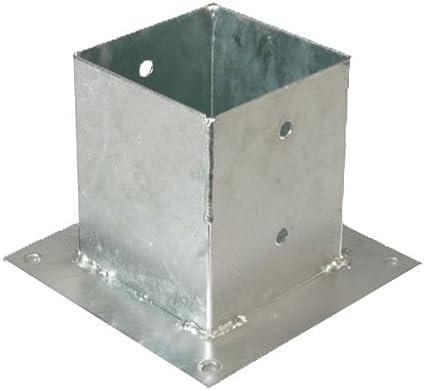 GAH-Alberts - Base para postes cuadrados (galvanizado al fuego): Amazon.es: Bricolaje y herramientas