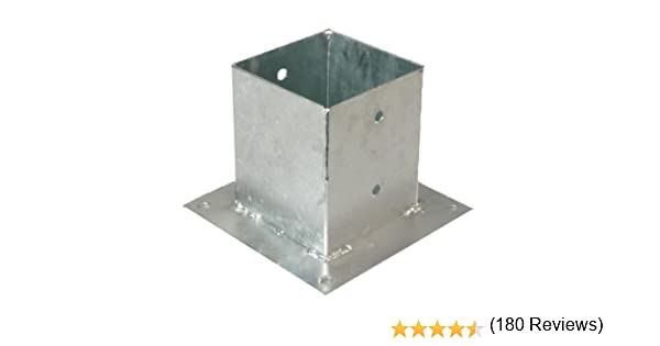 GAH-Alberts - Base para postes cuadrados (galvanizado al fuego ...