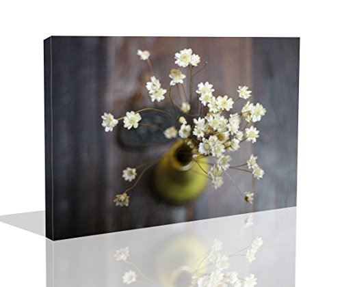 The Melody Art 1 Pce Modern Giclee Prints Framed Flower Artwork Flower in the Pot Picture Print to Photo Printed Paintings on Canvas Wall Art Decor for Home Decorations 10 (Pce Wood)