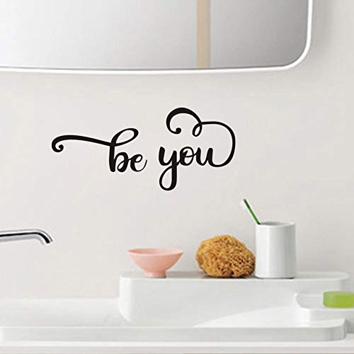 Be You Mirror Sticker(2Pcs) Inspirational Words&Letters ...
