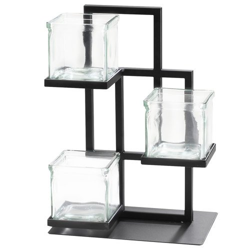Cal-Mil 3350-13 Union Square Jar Display, 14'' Height, 10'' Width, 7'' Length