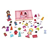 Melissa & Doug Abby & Emma Magnetic Dress-Up Set, Wooden Dress-Up Dolls, Pretend Play, 2 Play Sets in One, 55+ Pieces, 3.175 cm H x 27.94 cm W x 35.56 cm L
