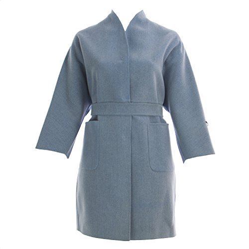 Marina Rinaldi Women's Nouvelle High Neck Belted Coat 16W / 25 Blue