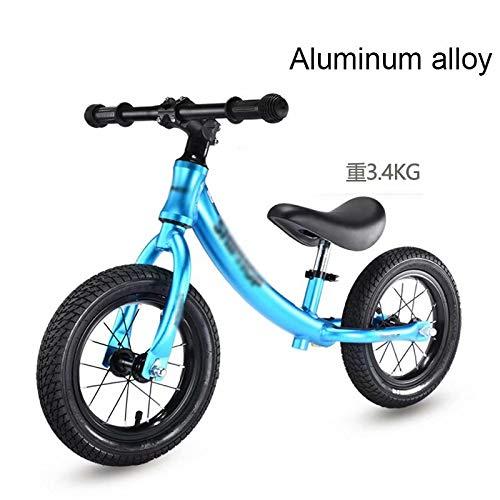 azul Electro-optico LL-balance car Equilibrar la aleación de Aluminio de la bicicletaNo pedalear Equilibrar la Bicicleta de Entrenamiento para niños y niños pequeños de 18 Meses a 5 años (negro frío
